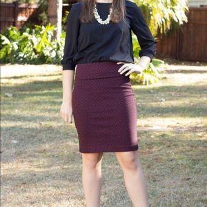 StitchFix Margaret M Maroon Pencil Skirt